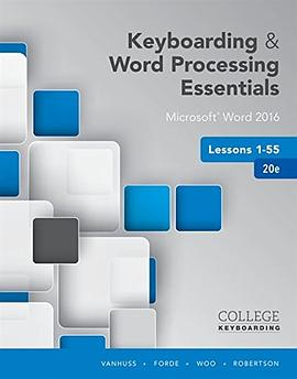 Keyboarding and Word Processing Essentials Lessons 1-55: Microsoft Word 2016, Spiral Bound Version-免费小说下载